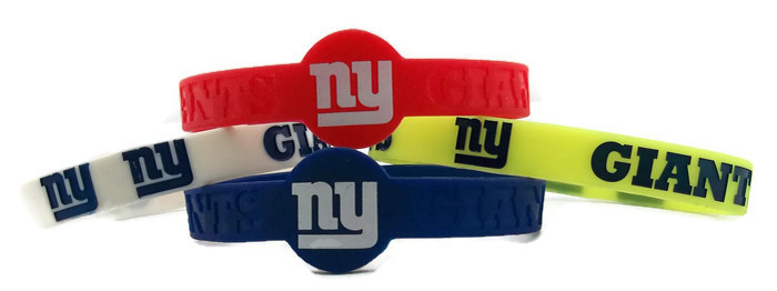 NFL New York Giants BRACELET - 4 Piece Set