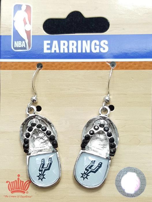 NBA San Antonio Spurs Earrings - FLIP FLOPS