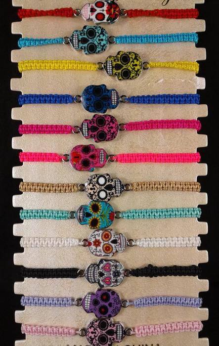 Jewelry - Sugar Skull BRACELETs YBT-2865 (SOLD BY THE DOZEN)