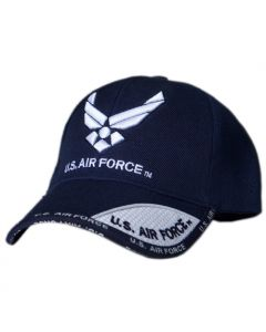 United States Air Force Wings Military Hat with Blue and White Bill
