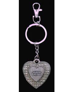 NBA San Antonio Spurs Keychain Heart - Glitter