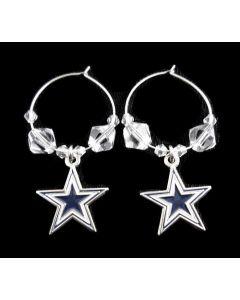 NFL Dallas Cowboys Earrings - Hoop with Crystal