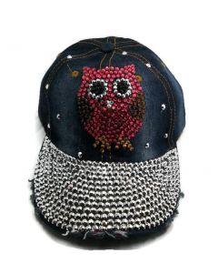 Rhinestone Hat - Pink Owl 18437
