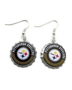 NFL Pittsburgh Steelers Earrings - Bottle Cap