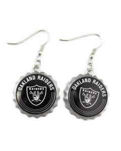NFL Oakland Raiders Earrings - Bottle Cap