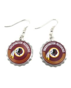 NFL Washington Redskins Earrings - Bottle Cap
