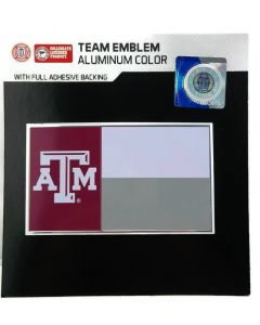NCAA Texas A&M Aggies State Flag Auto Emblem