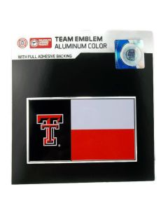 NCAA Texas Tech - State Flag Auto Emblem