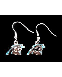 NFL Carolina Panthers Earrings Logo