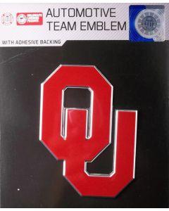 NCAA University of Oklahoma (OU) - Oklahoma Sooners Auto Emblem - Color