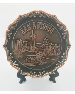 Plate - Copper - San Antonio