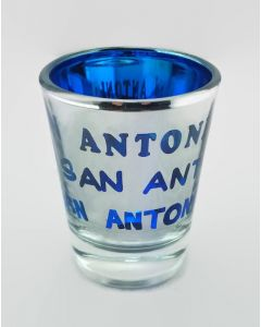 Shot Glass San Antonio Laser, Pink or Blue