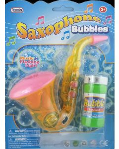 Saxophone Bubbles with Sound and Lights - Bubble Gun