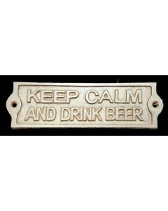 Texas Decor - Cast Iron Keep Calm and Drink Beer Sign - 56617