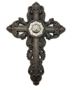 Texas Decor - Cast Iron Cross with Concho - 56586