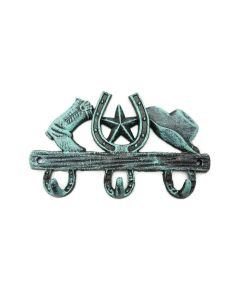Texas Decor - Cast Iron Hat and Boot Hook - 56639