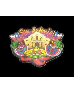 Magnet - San Antonio (SA) - 3D Alamo Fiesta