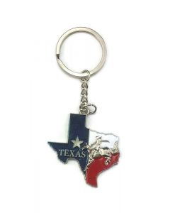 Keychain (KC) 66440 Texas Rodeo Map - SOLD BY THE DOZEN ONLY
