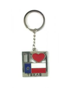 Keychain (KC) 66418 I Love Texas - SOLD BY THE DOZEN ONLY