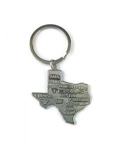 Keychain (KC) 66436 Texas State Map - SOLD BY THE DOZEN ONLY