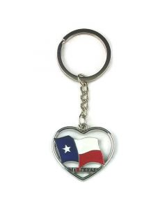 Keychain (KC) 66405 I Love Texas Flag - SOLD BY THE DOZEN ONLY