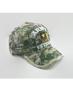 United States Army VETERAN Hat with Star TwoTone Bill