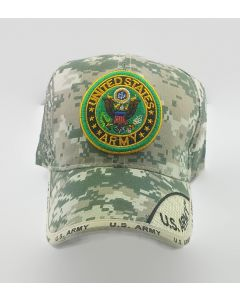 United States Army Hat with Embroidered Seal-TwoTone Bill