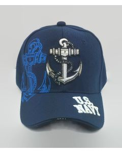 United States Navy Military Hat with Anchor-Blue NV6
