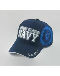 UNITED STATES NAVY Military Hat with Seal on Side NV3