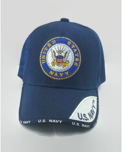 United States Navy Seal Military Hat with Blue and White Bill