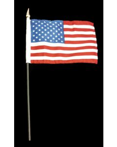 USA Flag 4 Inch x 6 Inch - Only Sold by the Dozen