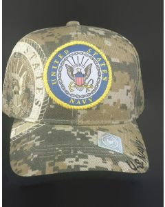 United States Navy Military Hat with Seal - Digital Camo