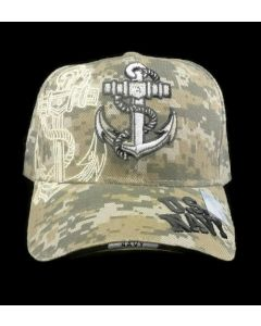 United States Navy Military Hat with Anchor - Digital Camo