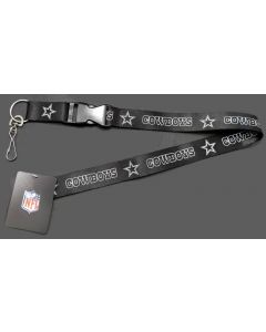 NFL Dallas Cowboys Lanyard - Blackout