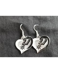 NBA - San Antonio Spurs NEW Heart Swirl Earring