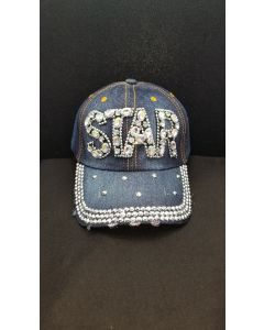 "Rhinestone Hat - ""STAR"" Denim NEW"