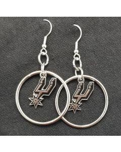 NBA San Antonio Spurs Earrings - Hoop