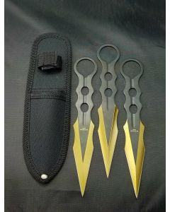 Knife T00109GD 3PC Throwing Set