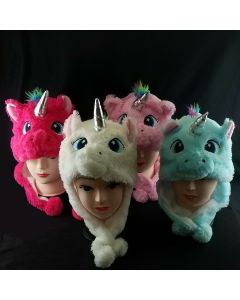 Unicorn Hat With Ear Flaps (Only Sold By The Dozen)