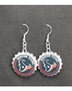 NFL Houston Texans Bottle Cap Earring