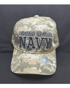 UNITED STATES NAVY Military Hat with Seal on Side - Digital Camo 20306