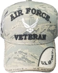 United States Air Force Veteran Hat - Digital Camo With Wings 21181