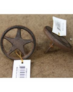Texas Decor - Cast Iron Star w/Ring Nail 56334 (SOLD BY THE DOZEN)