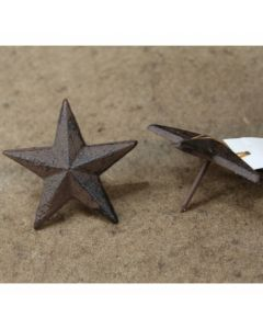 Texas Decor - Cast Iron Star Nails 56335 (SOLD BY THE DOZEN)