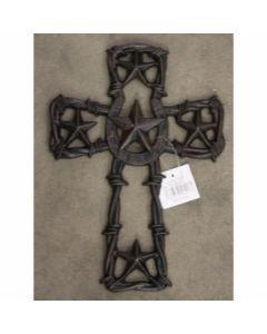 Texas Decor - Cast Iron Star/Horseshoe Cross 56417
