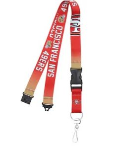 NFL San Francisco 49ERS Crossover Lanyard