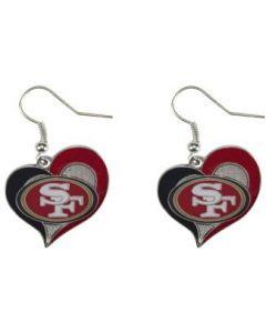 NFL San Francisco 49ers Earrings Heart Swirl