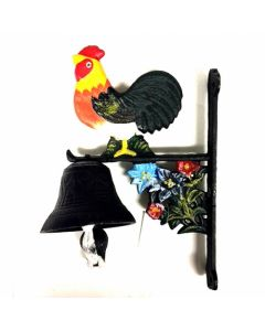 Texas Decor - Cast Iron Rooster Bell 56681