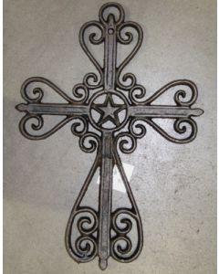 Texas Decor - Cast Iron Star Cross 56380