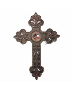 Texas Decor - Cast Iron Cross W/Concho 56585